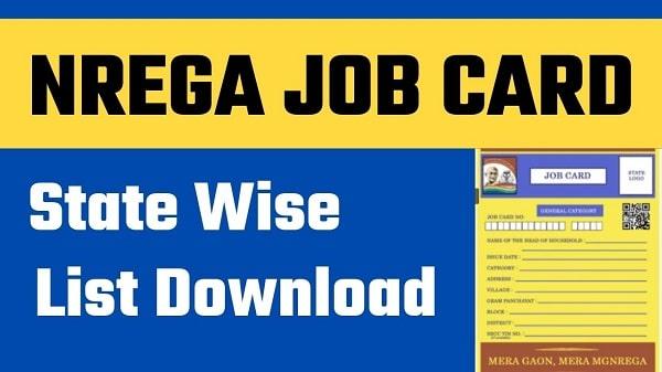 nrega job card state wise list download