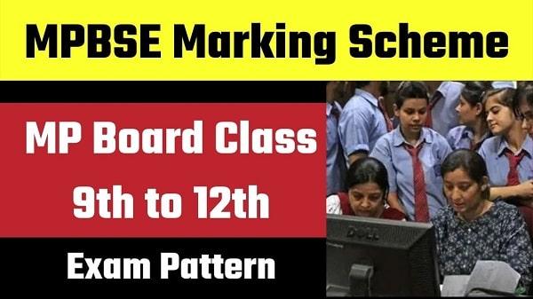 MPBSE Marking Scheme in Hindi